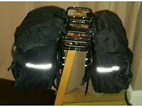 Rear pannier rack and bags