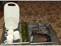 Great Bundle of Kitchen Items for a student or first time home
