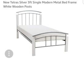 Snuggle Beds Tetras in White 3FT Single Bed Frame and mattress