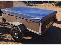 6ft by4ft Heavy duty car trailer can Carry one ton new jockey wheel all new lights like new £325