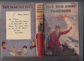 Enid Blyton Famous Five Run Away Together 1953 Hardback Jacket Free UK p+p!