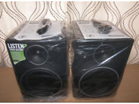 "Mackie MR8 MK3 8"" Full-Range Reference Active Powered DJ Studio Monitors , Speakers / Never Used !"
