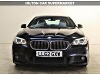 BMW 5 SERIES 2.0 520D M SPORT 4d AUTO 181 BHP + 1 PRE OWNER + S/H + LEATHER + AUX (black) 2012