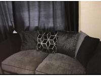 Sofa black and grey