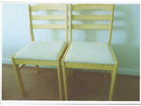 Two dining/kitchen chairs, excellent condition, hardly used.