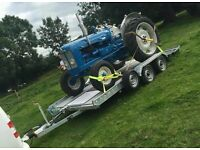 14FT 2.7ton CAR TRANSPORTER TRAILER WITH BEAVER TAIL AND RAMPS BRAKING