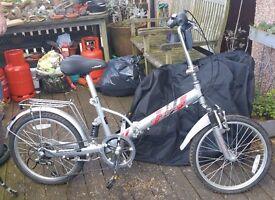 "2 x City foldable 20"" Wheel Bicycle Bike Unisex Shimano Gears Aluminium Frame Bike"