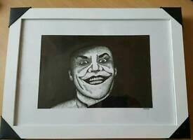The Joker Framed Illustration