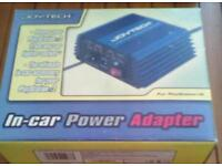 In car power adaptor for PlayStation 2 console