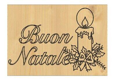 Fuoriporta targhetta decorativa in legno BUON NATALE cero natalizio addobbo casa