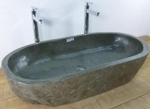 Waskom natuursteen trog badkamer badkamermeubels - Badkamermeubels steen ...