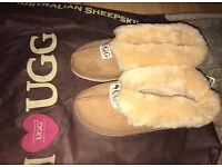 New - camel Ugg sheepskin slippers size 3