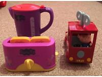 Peppa Pig Kettle and Toaster & Ben and Holly Delivery Lorry with figurine