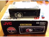 JVC KD-R401 Car Radio - CD Player, MP3 Player, Front AUX and USB ports.