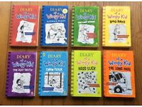 8 Diary of a Wimpy Kid books by Jeff Kinney