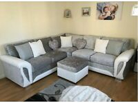 BRAND NEW SHENON CRUSH VELVET CORNER SOFA AND 3+2 SEATER ARE AVAILABLE BOOK YOUR ORDER
