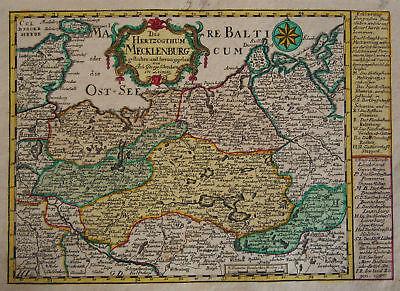 1749 Genuine Antique map of N. Germany. J Schreibern