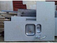 Kitchen Sinks, Tap and Worktops