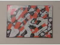 Modern Abstract acrylic painting on double primed canvas. 42cm x 59.4cm