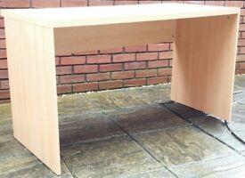wooden desk, 129cm x 62cm. In good condition.