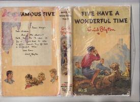 Enid Blyton Five Have A Wonderful Time 1963 HB Jacket Free UK p+p!