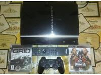 PlayStation 3 with Controller, remote and games