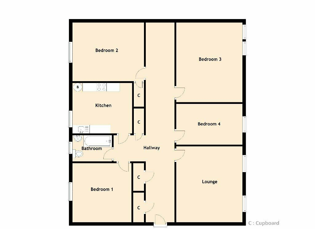 Excellent 4-bed HMO student flat near Pollock Halls ...