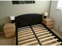 King leather Bed frame (delivery available)