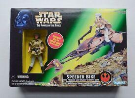 Star Wars POTF 1997 Speeder Bike with Princess Leia Organa In Endor Gear UNBOXED LIKE NEW