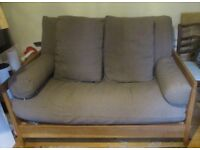 Double futon sofa bed.