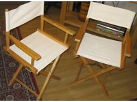 Two Fold Up Director Chairs