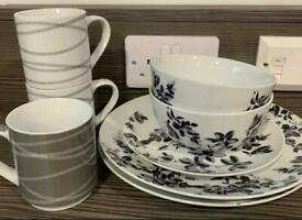 Set of Dinnerware + Cups