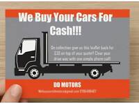 We buy your cars for cash