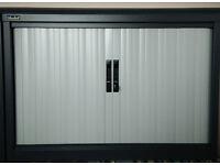 Silverline office storage/cupboard. Side Opening. Dark Graphite Grey. (101W x 72H x 52D cm).
