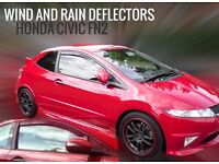 Honda Civic FN2 inc Type R SNED Wind & Rain Deflectors Smoked Front Set 2pcs New