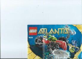 LEGO kit 8059 Atlantis Seabed Scavenger complete with booklet