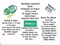 Macmillan Lowestoft Event