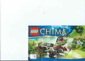 LEGO kit 70001 Chima Crawleys Claw Ripper complete Low Price
