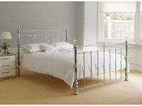 Dreams King Size Lovely Chrome Bed with Crystals