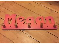 Megan child's coat hook wooden peg