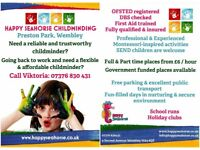 FULL & PART TIME CHILDMINDING PLACES AT PRESTON PARK / WEMBLEY
