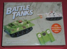 Remote Control Battle Tanks (as new)