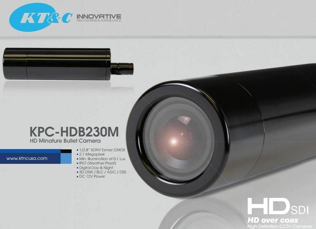 KT&C Color HD-SDI 23mm Bullet Camera 1080p SONY Exmor KPC-HD