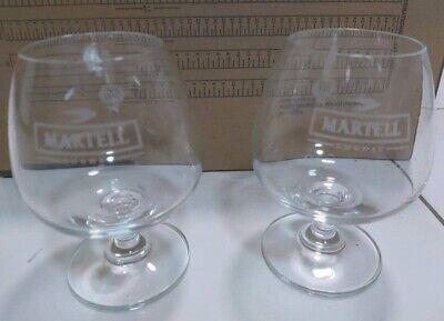 Martel Gordon Blue Brandy Liquor Glass 2pcs New