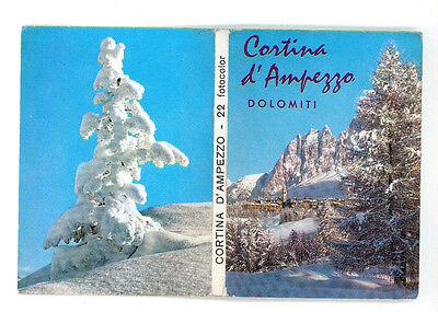CORTINA D'AMPEZZO DOLOMITI 22 VEDUTE A COLORI FOTOCOLOR SOUVENIR ANNI '70