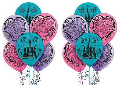 12x Disney Frozen 12 inch Helium Quality Latex Birthday Party Balloons  - Frozen Helium Balloons