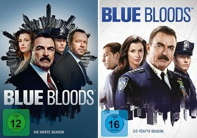 12 DVDs * BLUE BLOODS - SEASON / STAFFEL 4 + 5 IM SET # NEU OVP +
