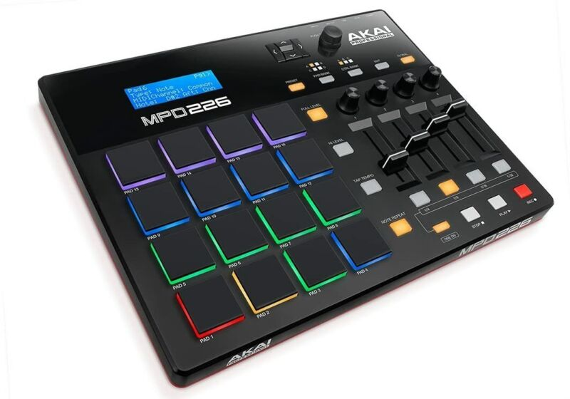 AKAI Professional MPD226 16 Pad USB MIDI Controller MPC Pads Ready Production