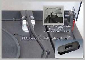 BRAUN PS 550--Haltestücke/Haubenführung für Haubenscharnier-Abdeckhaube