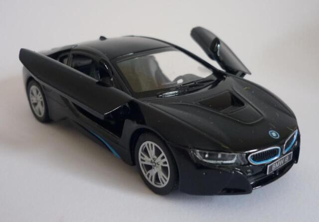 Black BMW i8 Boys Dad Toy Model Diecast  Car Birthday Present Pull back & Go